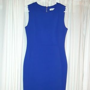 Calvin Klein Royal blue sheath dress